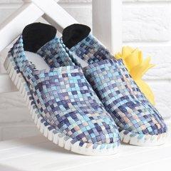 96c1474eaff94c КупитиМокасини жіночі плетені прошиті Blue paradise Туреччина текстильні  блакитні фото, в інтернет-магазині взуття