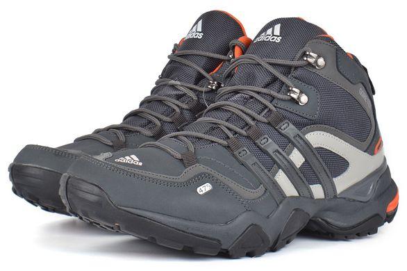 КупитиТермо кросівки чоловічі шкіряні Adidas Gore Tex Terrex сірі з  помаранчевим фото a3de88cca3bcc