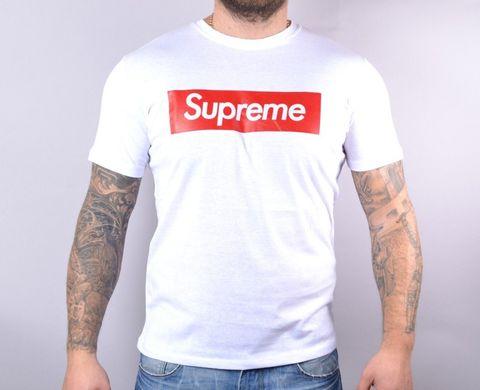 ᐉ Купити Футболка чоловіча Supreme біла бавовняна – в інтернет ... 5896900813771