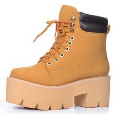 КупитиЧеревики жіночі на платформі Jeffrey Campbell Nirvana Yellow Boot  style фото 6cc65017e1daa
