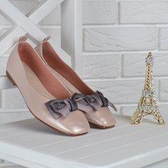 c7ce5aff7 Купить Балетки женские кожаные с бантом Sweets пудра беж фото, в  интернет-магазине обуви