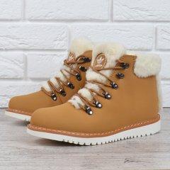 КупитиЧеревики жіночі шкіряні зимові Adidas Waterproof натуральне хутро  жовті фото 3e27521e1b0e0