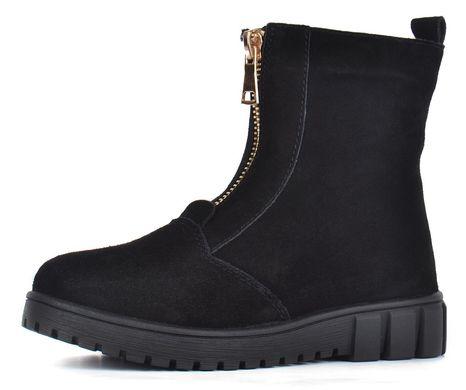 e50d0d782 Купить Ботинки женские зимние замша на овчине черные на молнии Украина  фото, в интернет- ...
