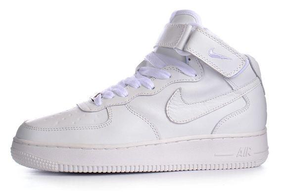 1f930146609d01 КупитиКросівки Nike Air Force 1 High White шкіряні високі білі фото, в  інтернет-магазині ...