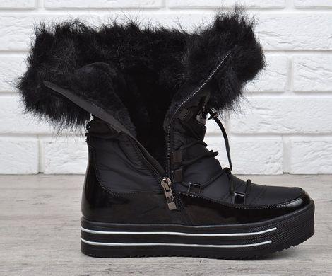 ... КупитиЧоботи жіночі зимові дутики на платформі чорні Lorbacsa фото c53cb2f238620