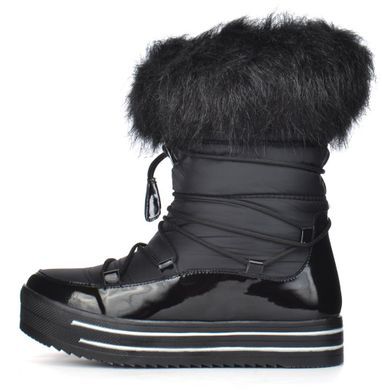 ᐉ Купити Чоботи жіночі зимові дутики на платформі чорні Lorbacsa ... 6aa26e1bc005e