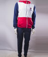 d7f6714be1f49f КупитиСпортивний костюм чоловічий Fila синій з білим і червоним на блискавці  з капюшоном фото, в