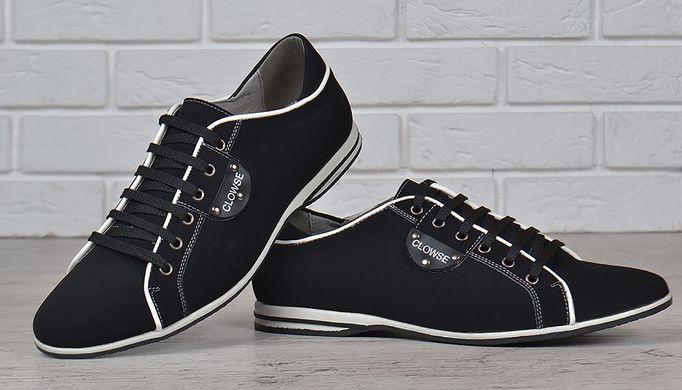 ᐉ Купити Туфлі чоловічі шкіряні на шнурівці Clowse чорні – в ... 7d5cd4e678c07