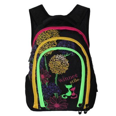 a2505ef22706 КупитиШкільний рюкзак Winner stile для дівчаток J-378 А ортопедичний принт  квіти фото, в ...
