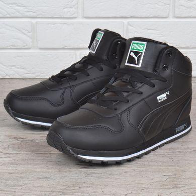 5a9a14b1a267 ... Купить Кроссовки мужские кожаные зимние Puma Suede черные на меху фото,  в интернет-магазине ...