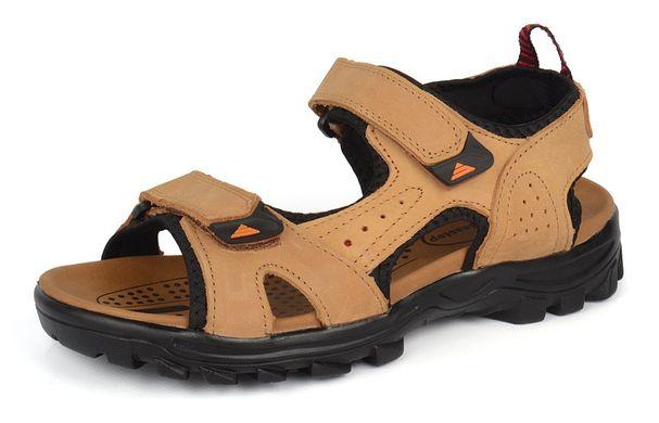 5ea4deab8097 Купить Сандалии мужские кожаные песочные на липучках Reastep Турция фото, в  интернет-магазине обуви ...