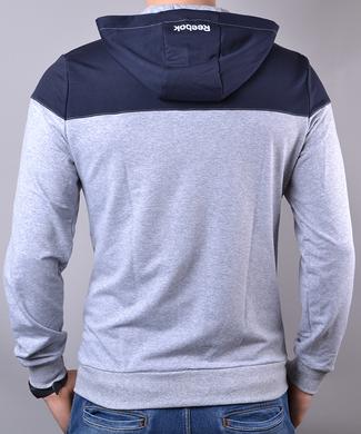 715a0f4cb07858 ... КупитиСпортивний костюм чоловічий Reebok Crossfit синій з сірим на  блискавці з капюшоном фото, в інтернет ...