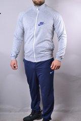 1406cc2ea028fc КупитиСпортивний чоловічий костюм Nike синій з сірим на блискавки і на  манжетах фото, в інтернет
