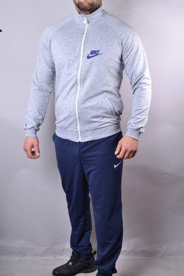 d5af2845 КупитиСпортивний чоловічий костюм Nike синій з сірим на блискавки і на  манжетах фото, в інтернет