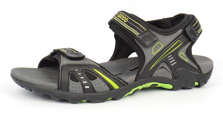 6c7924e7e52a КупитиСандалії Ecco Hyper Terrain чорні з зеленим фото, в інтернет-магазині  взуття Nanogu.