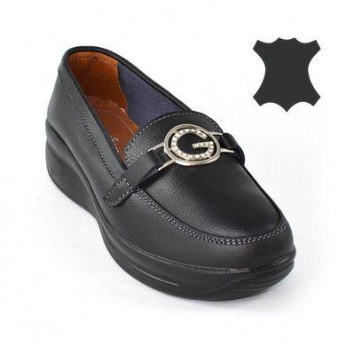 Купить Мокасины женские кожаные черные «Gucci» на высокой подошве фото, в  интернет- ... bd69f07d597