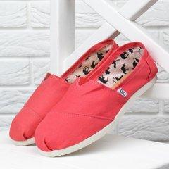 1f470729531b8d КупитиКеди жіночі еспадрільі Toms коралові текстильні фото, в  інтернет-магазині взуття Nanogu.com