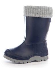 КупитиГумові чоботи на хлопчика зі знімним утеплювачем Fidget сині фото 40e7f2791c4a4