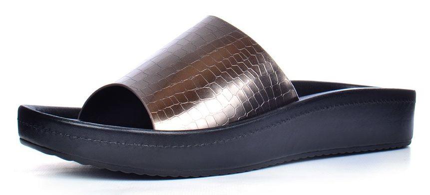 ce3bdacec Купить Шлепанцы женские на платформе Sopra металлик черные фото, в интернет-магазине  обуви Nanogu ...