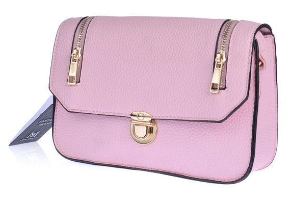 ed25c29a6961 Купить Сумка клатч женская каркасная Emma розовая с молниями фото, в  интернет-магазине обуви ...