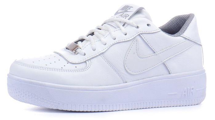 ᐉ Купить Кроссовки женские кожаные Nike Air Force белые – в ... aae8ccf693e35