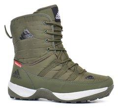 9cf3c014 Купить Дутики женские спортивные ботинки Adidas Terrex хаки на шнуровке  фото, в интернет-магазине