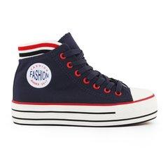 b1fcaf4d330dcb КупитиКеди жіночі на платформі сині з манжетом Fashion Shoes на шнурівці  фото, в інтернет-