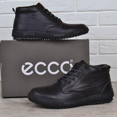 b4c8e17df98a74 КупитиЧеревики чоловічі шкіряні зимові Ecco чорні натуральне хутро фото, в  інтернет-магазині взуття Nanogu ...