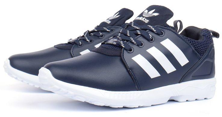 994a3687 Купить Кроссовки мужские кожаные Adidas ZX Flux Torsion темно синие фото, в  интернет-магазине ...